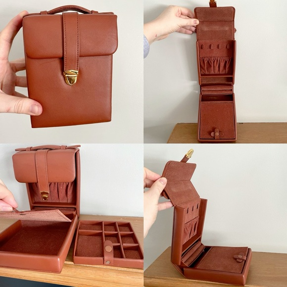 Vintage Leather Travel Organizer